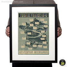 Tour de france 1949 grand tour vintage cyclisme route map velo poster print