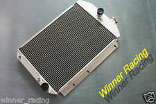 56MM UP TO 700HP ALLOY RADIATOR CHEVY HOT/STREET ROD 350 V8 W/TRANNY COOLER 1937