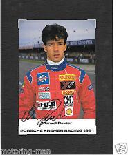 Kremer porsche 1991 manuel reuter dédicacé signé photo photographie foto