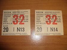 2 Original Concert Tickets ODEON Hammersmith RONNIE LAWS Sat May 3rd C1979 Rare