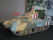 KING AND COUNTRY EA78 8TH ARMY VALENTINE MK2 MILITARY TANK + TOY SOLDIER DRIVER