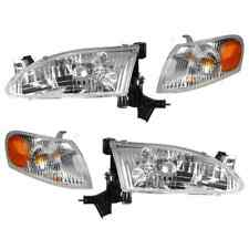 1998 1999 2000 TOYOTA COROLLA HEADLIGHTS AND CORNER LAMPS LIGHTS COMBO