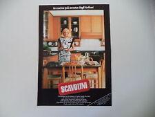 advertising Pubblicità 1986 CUCINA SCAVOLINI e RAFFAELLA CARRA'