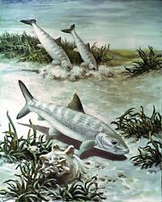 """perfact 24x36 oil painting handpainted on canvas """"fishes""""@NO3362"""