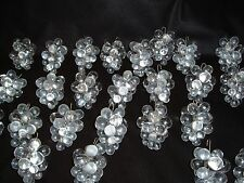 lot of 26 Crystal Hanging Pendant Grape Clusters prisms Chandeliers,Lamps,Parts