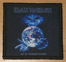 """IRON MAIDEN """"OUT OF THE SILENT PLANET"""" silk screen PATCH"""