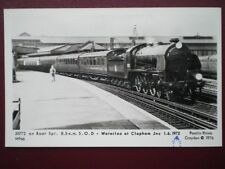 POSTCARD RP SR LSWR DRUMMOND GREYHOUNDS 4-4-0 NO 30722 BOAT TRAIN