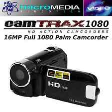 CamTRAX 1080 HD Palm Camcorder 16MP+ 32GB SD Card Bundlle- 16X Zoom Antisha
