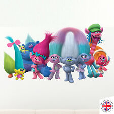 TROLLS Wall Sticker Bedroom Decal Nursery Vinyl Poster Girls Boys Kids Animated