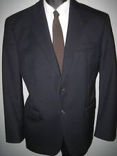 """40R solid navy blue- 2 button """"RALPH LAUREN""""  wool suit 32Wx30L -Made in Canada"""