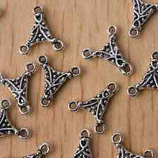 30pcs Tibetan Silver 2SIDED 3holes charms/connector h2815