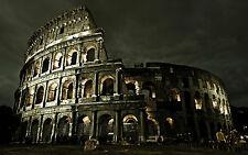 Incorniciato stampa-COLOSSEO la sera (ITALIA ROMANA ROMA foto poster arte)