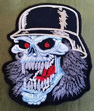 """SKULL"" EMBROIDERED JACKET PATCH MOTORCYCLE BIKER ROCKABILLY TATTOO HOG PUNK"