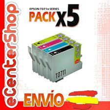 5 Cartuchos T0711 T0712 T0713 T0714 NON-OEM Epson Stylus DX4400