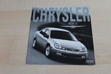 135355) Chrysler Neon 1.6 - Preise & Extras - Prospekt 07/2001