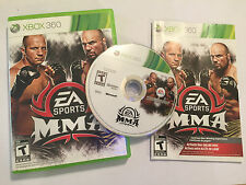 NTSC US CANADA XBOX 360 GAME EA SPORTS MMA + BOX & INSTRUCTIONS / COMPLETE