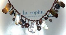 "NWT - LIA SOPHIA ""CABOODLE"" NECKLACE - ABALONE/FRESHWATER PEARL/MOP - 2010/$68"