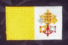 VATICAN CITY FLAG PATCH SMALL CHRISTIANITY  JESUS CHRIST THE POPE ROME DIY