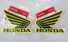 Honda Wing Fuel Tank Decal Wings Sticker 2 x 95mm Black & Lemon Ice Yellow