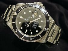 Rolex Submariner Date Stainless Steel Watch Black Dial Bezel Mens Sub 16610