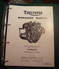 1969-74 Triumph T150, OEM, NOS, Factory SHOP BINDER with Supplements
