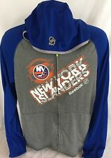 New York Islanders Zip Jacket Hood NHL Reebok Center Ice PlayDry Sz S Men's NWOT
