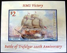 MARSHALL ISLANDS SHIP STAMPS HMS VICTORY BATTLE OF TRAFALGAR SAILING SHIPS OCEAN