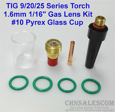 8 pcs TIG Welding Torch Gas Lens Pyrex Cup Kit  for Tig WP-9/20/25 Series  1/16""