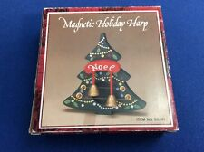 Magnetic Holiday Harp w-Noel Christmas Tree, 6""