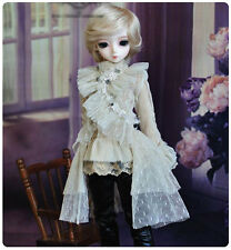 1/4 BJD MSD boy doll outfit beige lace gothic clothings set dollfie luts minifee