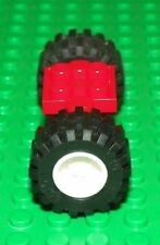 LEGO - Vehicle, Spring Wheel Holder 2 x 2 w/ Rims & Tires - PICK YOUR COLOR