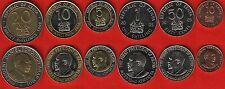 Kenya set of 6 coins: 10 cents - 20 shillings 1995-2010 UNC