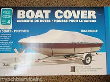 """BOAT COVER V-HULL RUNABOUTS LOW PROFILE 50-97341 BOATS 19FT TO 21FT 105"""" BEAM"""