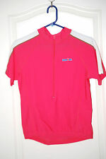 Cycling Jersey IRONMAN hot pink 80/20 Lycra short sleeve tee  W XL L Unisex NEW
