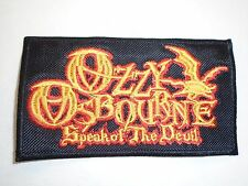 OZZY OSBOURNE SPEAK OF THE DEVIL EMBROIDERED PATCH