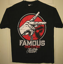 FAMOUS STARS AND STRAPS Shirt L Twitch Family First Peace Hand FSAS RARE OOP HTF
