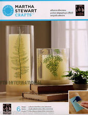 Martha Stewart Ferns ~ Adhesive Silkscreen Stencils #33245 Lace Leaves, Leaf