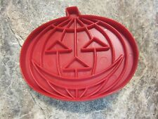 Vintage Tupperware Red Halloween Pumpkin Cookie Cutter, Jack O Lantern