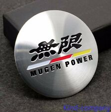 4*mugen power Aluminum Alloy Car Wheel Center Hub Caps Sticker Emblems for auto