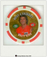 2008 Topps AFL Poker Chipz Gold Best & Fairest Brett Kirk (Sydney)