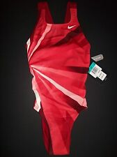 Nike Swimsuit/Swimwear Competition/Racing Athletic One-Piece Sz 24 Girl Sz 8 NWT