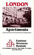 London Apartments Eastone Overseas Rentals UK Housing Rentals Brochure 1984