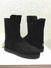 UGG CLASSIC LUXE COLLECTION ABREE SHORT NERO SUEDE Boot US 7 / EU 38 / UK 5.5