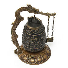 Tibetan Carved Dragon Buddhist Bell