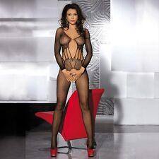 Sexy Lingerie Women Lace Teddy Dress Bodysuit Bodystocking Open Crotch Nightwear