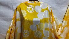 *NEW* Smooth Designer Silk/Rayon Blend *Circles*  Dress/Craft Fabric*FREE P&P*