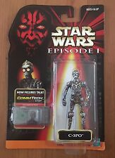 1998 Hasbro Star Wars The Phantom Menace Episode 1 C-3PO With CommTech Chip .00