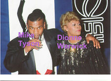 MIKE TYSON BOXING DIONNE WARWICK AUNT TO WHITNEY HOUSTON RARE UNSEEN PRESS PHOTO