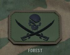 PIRATE SKULL FLAG FOREST TACTICAL COMBAT BADGE MORALE PVC MILITARY PATCH