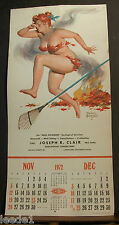 Bryers Hilda November December 1972 Calendar Page Runs Holds Nose Burning Leaves